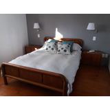 Juego De Dormitorio - Cama 2 Plazas, Mesas De Luz Y Cómoda