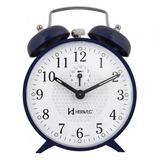 Relogio Despertador Antigo Mecanico Cordas Herweg 2206 Azul