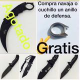 Cuchillo Navaja Táctico Supervivencia Anillo Defensa Gratis