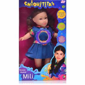 Boneca Musical Mili Chiquititas Grande Sbt Baby Brink