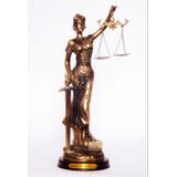 Estátua Deusa Da Justiça Dama Símbolo Direito Themis - 15 Cm