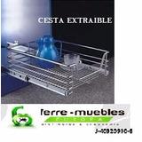 Cesta Extraible P/mueble De 45 Cm Con Corredera Telescopica