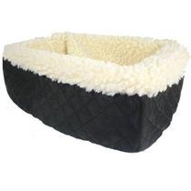 Crema Asiento Snoozer Consola Pet Car Fur Negro, Pequeño