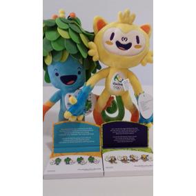 Kit Mascotes Tom E Vinicius Jogos Olimpicos Rio 2016 + 8 Pin