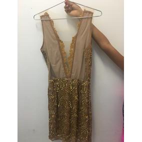 Vestido Bordado Dourado