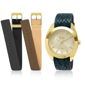 Relógio Feminino Dumont Troca Pulseiras Analógico Du2035lnc/