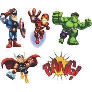 Adesivo Vingadores Baby Super Heróis Infantil