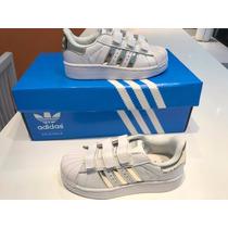Zapatillas Adidas Superstar Niños Con Abrojos 30 31 32 33
