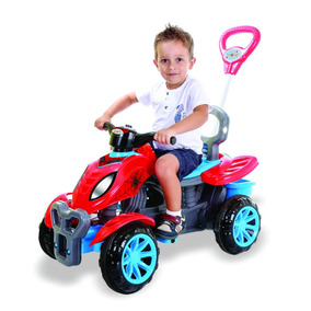 Triciclo Velotrol Bebe 1 Ano Azul Empurrador 3113
