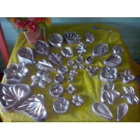Kit De 21 Frizadores De Aluminio Pra Flores Diversas
