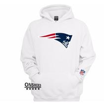 Blusa Moleton New England Patriots - Promoção