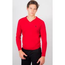 Sweater Hpc Polo Rojo