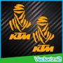 Calcomanias Stickers Ktm Edicion Especial Rally Dakar (par)