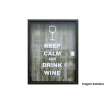 Quadro Porta Rolha 32x42 Keep Calm And Drink Winer