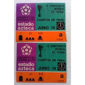 Boleto Mundial Mexico 1970 Ticket Soccer Football Vintage