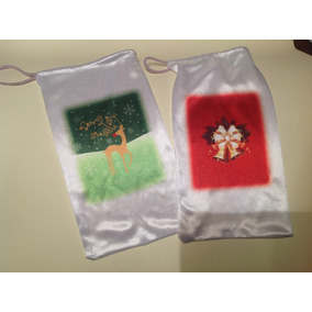 40 Bolsitas De Tela Personalizadas Para Pantuflas O Regalos