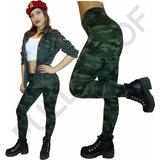 Calza Leging Chupin Camuflada Verde Militar Edicion Limitada
