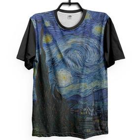 7b56ed8d36901 Camiseta Van Gogh Noite Estrelada Camisa Summer Dark Arte
