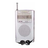 Radio Portatil Am Fm Parlante Con Auriculares Winco W-203