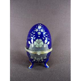 Figura Huevo Bronce Esmaltado Al Oro Simil Faberge (2831x)