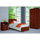 Dormitorio Juvenil Cama 1 Plaza + Ropero 3 Ptas + 1 Mesa Luz