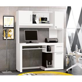 Mesa P/ Computador 2 Prateleiras 3 Portas 1 Gaveta-loja Movz