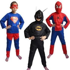 Fantasia Infantil Longa Spiderman Batman Superman Promoção
