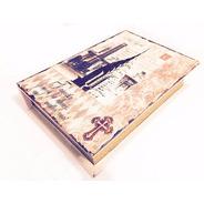 Kit 3 Livros Decorativos Grandes Caixa Madeira 32cm