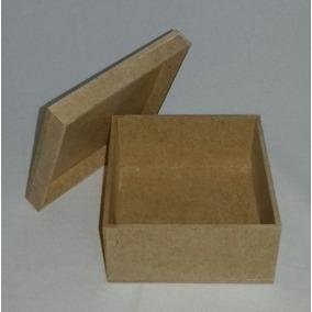 Kit Com 100 Caixas Mdf Cru 5x5x5 Cm Casamento Lembrancinha