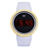 Touch Screen Digital Sports Iced Out Watches Silicone Band W