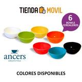 Bowl Cerealero Ancers - Caja X 6 Unidades
