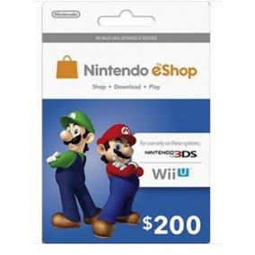 Tarjeta Nintendo Eshop $200 Mxn Prepago Wii U Nintendo 3ds