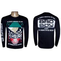 Camisa Ufc Competidor Bad Boy Camiseta Mma Manga Longa