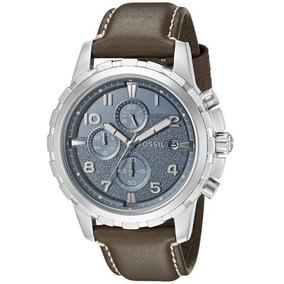 Fossil Fs5022 Reloj Elegante Caballero Azul, Correa Piel