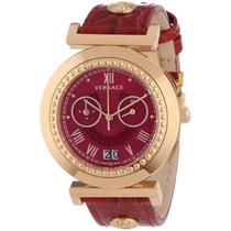Va Vanidad\ Oro Versace Femenina Reloj Ion-plateada Con B