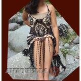 Vestido Tejido A Crochet Artesanal Fiesta ,playa De Seda