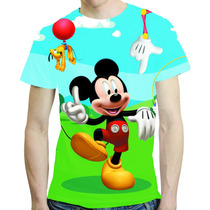 Camisa Desenho Animado Camiseta Mickey - Estampa Total