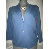 Saco Azul De Vestir/casual De Dama Talla 2x Merona