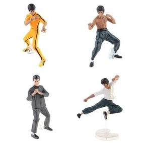 Bonecos Bruce Lee Kit Com 4 - Edição Colecionador