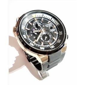 Citizen Eco Drive Elegante Cronografo Wr200 $3900 Caucho
