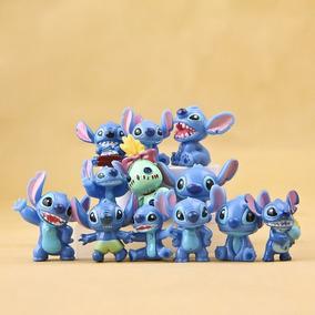 Genial Coleccion De 12 Minifiguras Stitch 2 Cm Envio Gratis