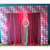 Mega Painel Balão Bexiga Aniversario Banner 147 Balões