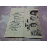 Programa Teatro Astral Besos Peligrosos Arnaldo Andre 1992