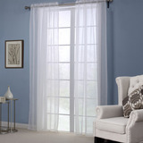 Classic Jacquard Polyester Voile Sheer Window Curtains Wind