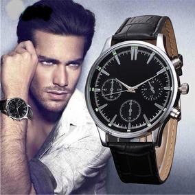 Relógio Masculino Pulseira De Couro Social De Luxo Importado