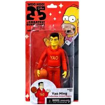 Simpsons Yao Ming Figura Nueva Neca 25 Aniversario