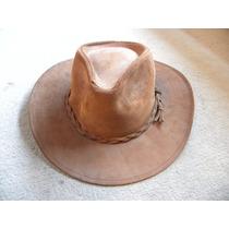 Sombrero Lagomarsino Cuero Natural Rebajado