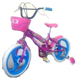 Bicicleta Barbie Niños Rodado 16 Alta Resistencia