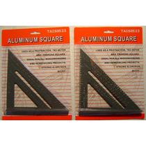 2 Escuadras De Aluminio Para Carpinteria 7 Nuevas