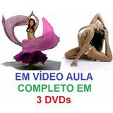 Aulas De Dança Do Ventre + Yoga - Curso Em 3 Dvds, Vvd